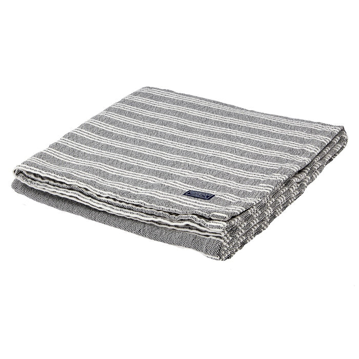 Striped Cotton Throw - Charcoal