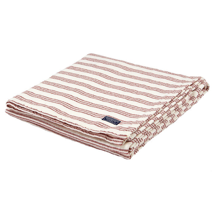 Striped Cotton Throw - Red