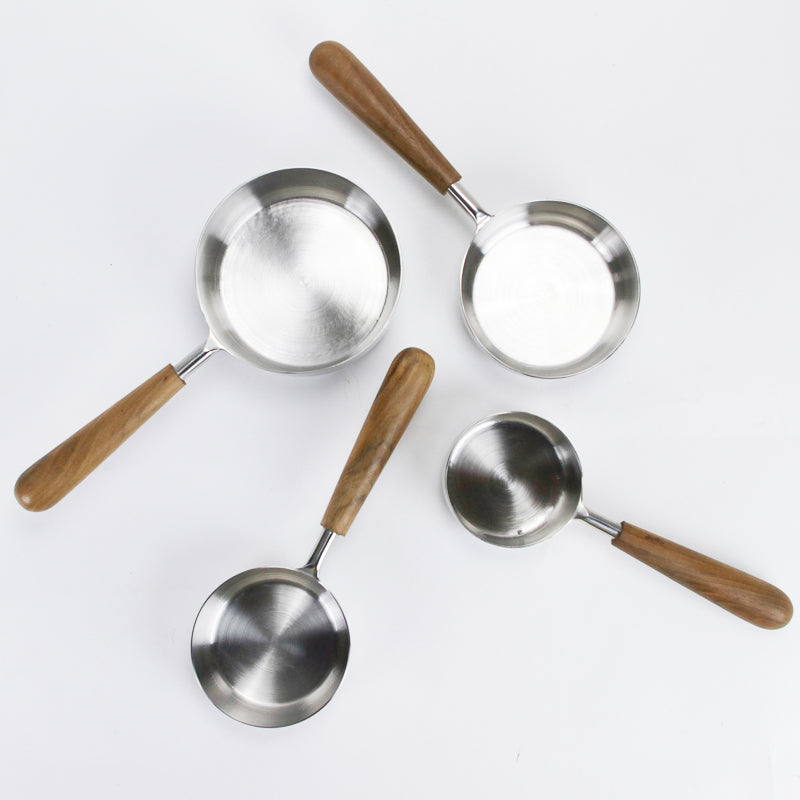 Teak Handle Measuring Cups