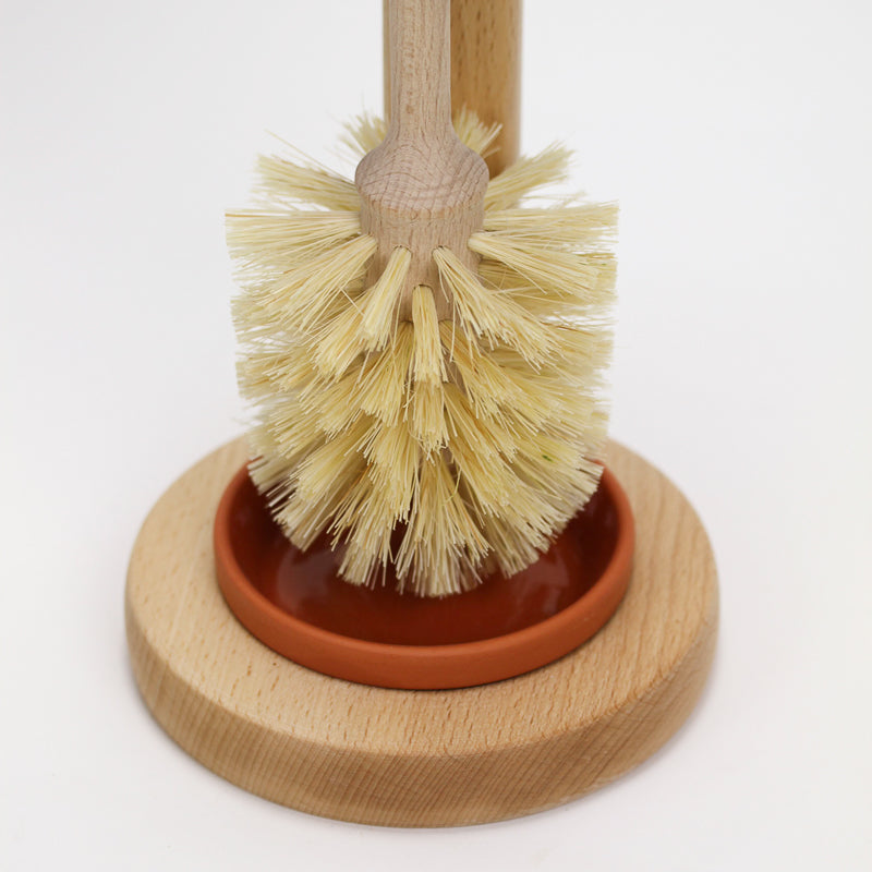Toilet Brush and Wooden Brush Stand