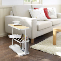 Tower Side Table White