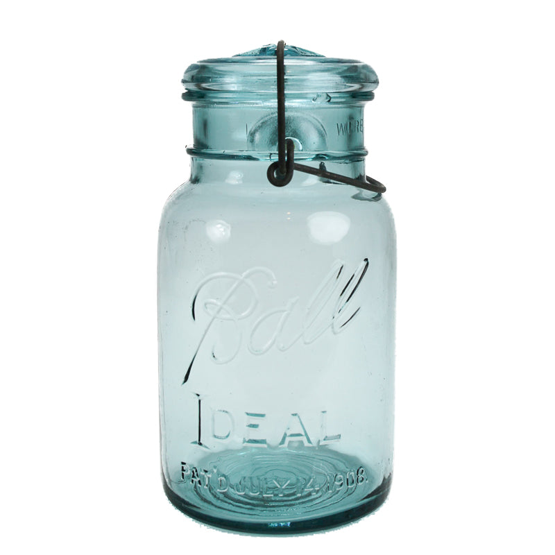 Vintage Ball Storage Jar - Blue