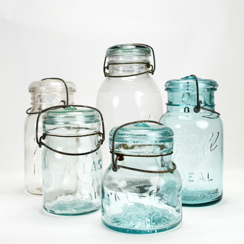 Vintage Ball Storage Jar - Clear