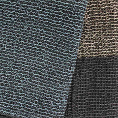 Linen Towel- blue, black stripes