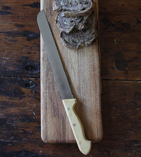 Large Boxwood Bread Knife