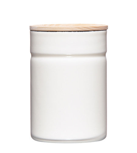 Enamel Canister - White - 525ml
