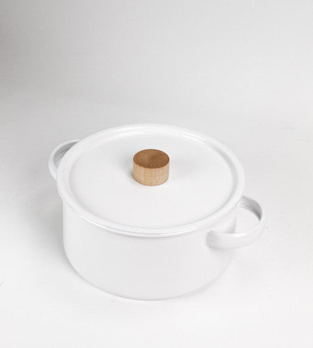 Enamel Pan - with Lid