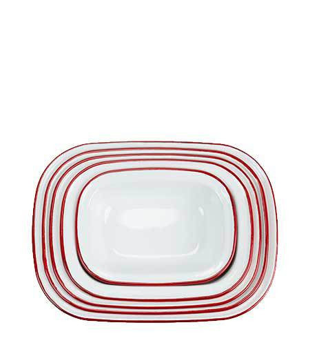 Enamel Pie Set - Red