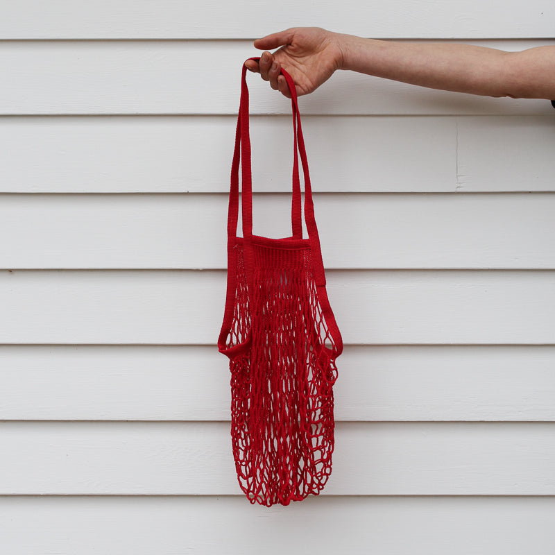French Grocery Bag - Red