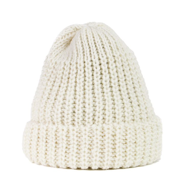 Fisherman Knit Hat - Cream