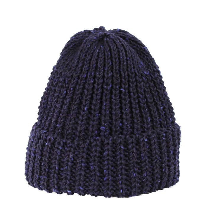 Fisherman Knit Hat - Indigo Tweed