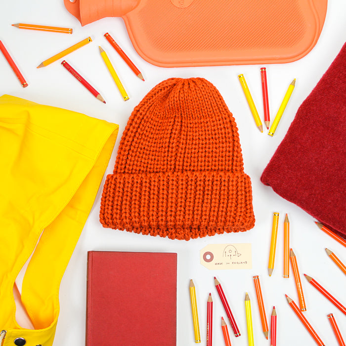 Fisherman Knit Hat - Saffron