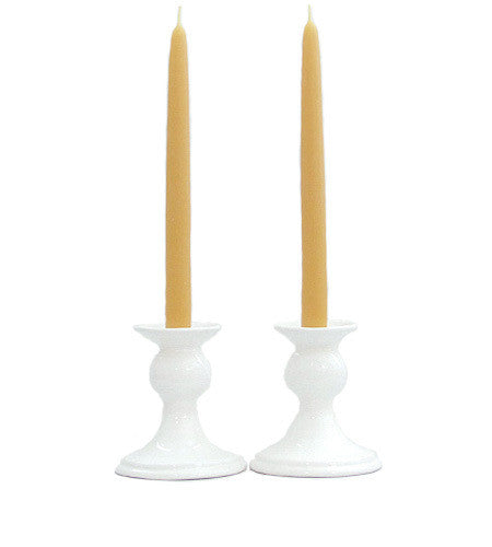 Pair of Beeswax Taper Candles