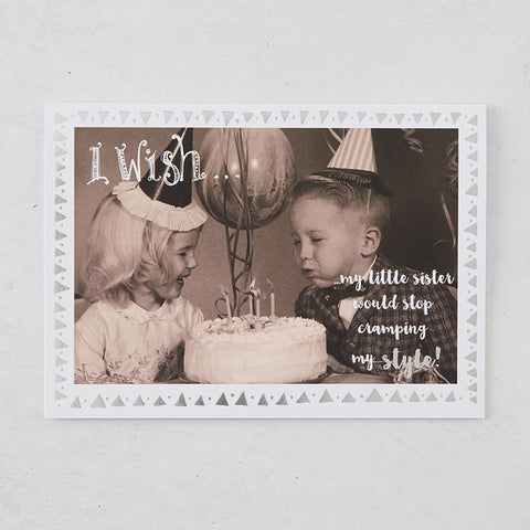I Wish...Photographic Card with Silver Foil