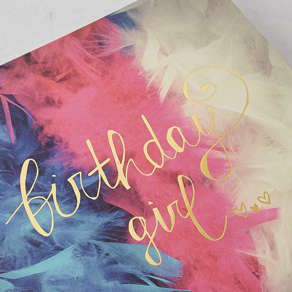 Birthday Girl Photographic Card with Gold Foil