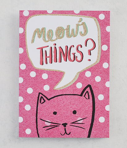 Meow's Things? Card with Gold Glitter