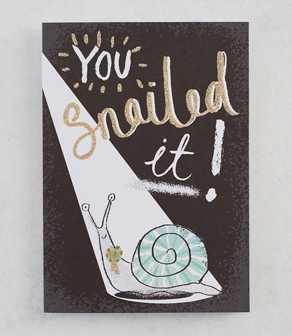 You Snailed It! Card with Gold Glitter
