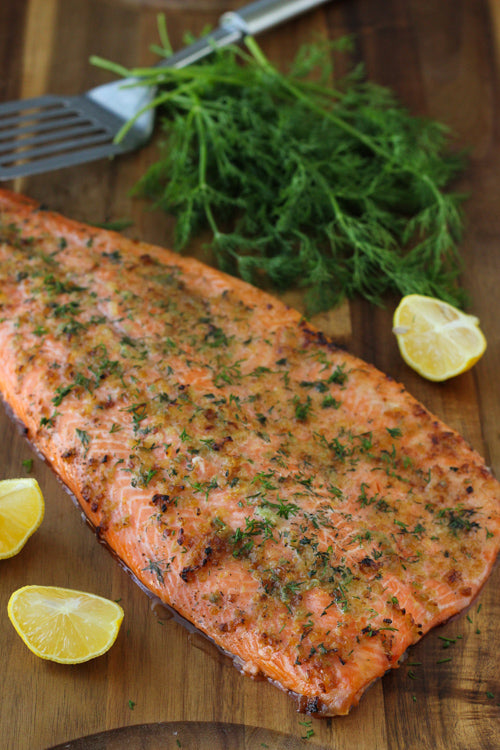 Grilled steelhead with Lemon Beurre blanc