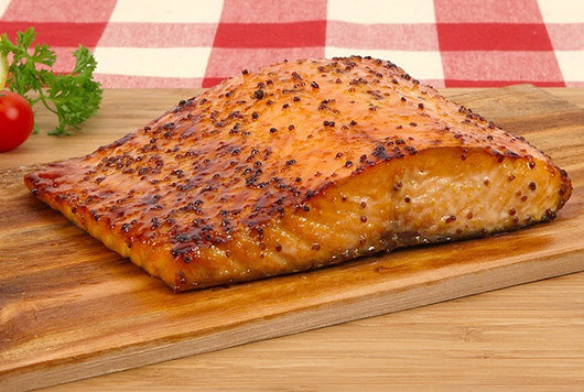 Cedar salmon planks/ lemon beurre blanc