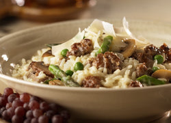 pork sauase risotto