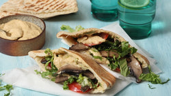portabella pita with hummus