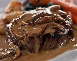 filet mignon with steak dian sauce