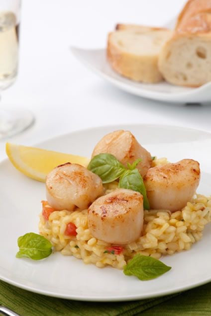 Scallops and crab risotto