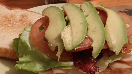 smoked turkey, avocado,bacon sandwich