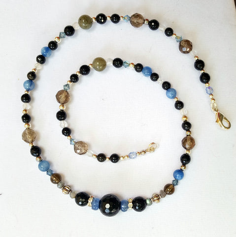 Anger Management Necklace, crystal and gemstone healing jewelry for repelling negativity