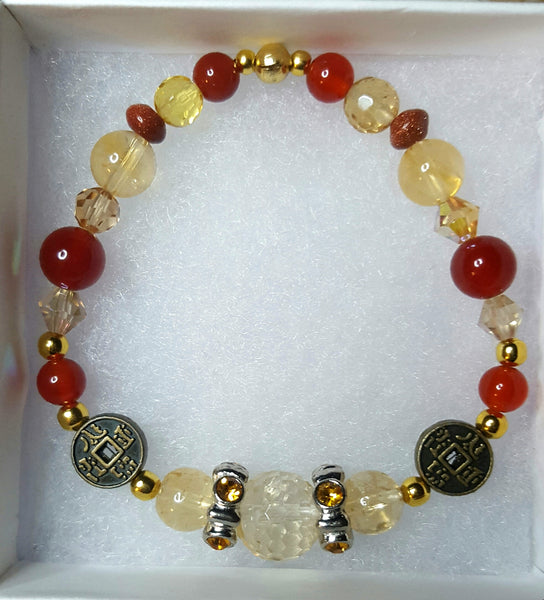 Success in Business Bracelet with citrine and carnelian