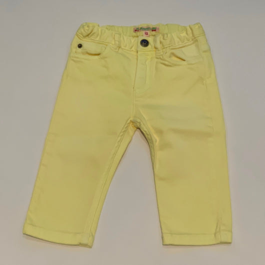 Bonpoint Lemon Yellow Denim Jeans: 12 Months