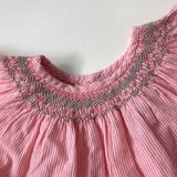 Bonpoint Pink And White Stripe Smocked Blouse