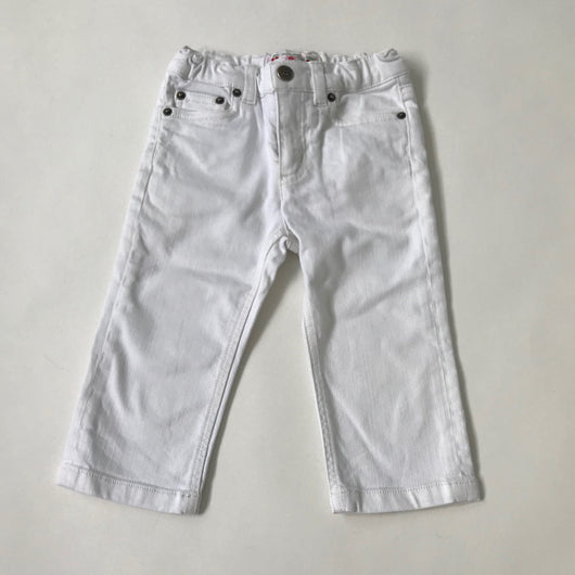 Bonpoint White Denim Jeans: 18 Months