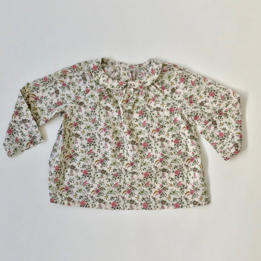 Bonpoint Liberty Print Floral Blouse With Peter Pan Collar