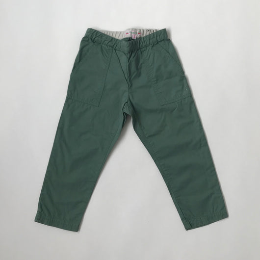 Bonpoint Army Green Cotton Trousers: 3 Years