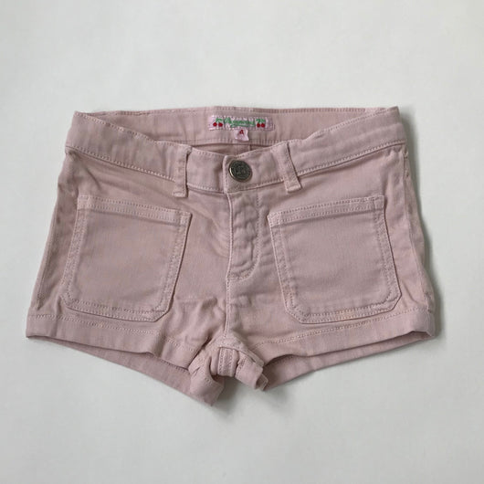 Bonpoint Dusty Pink Denim Shorts: 4 Years