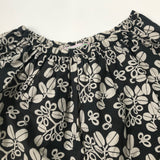 Bonpoint Black And White Floral Print Cotton Skirt