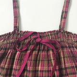 Bonpoint Maroon Gauzy Tartan Sundress: 4 Years (Brand New)
