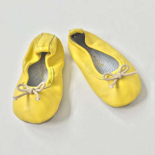 Bonpoint Yellow Ballet Pumps: Size 16