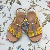 Bonpoint Yellow And Silver Sandals: Size 24