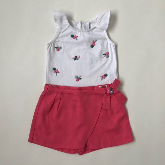 Tartine et Chocolat Pink And White Outfit: 2 Years (Brand New)