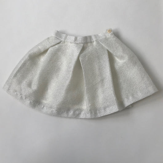 Il Gufo White And Silver Mohair Mix Skirt