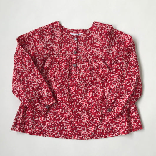 Jacadi Red Liberty Print Blouse
