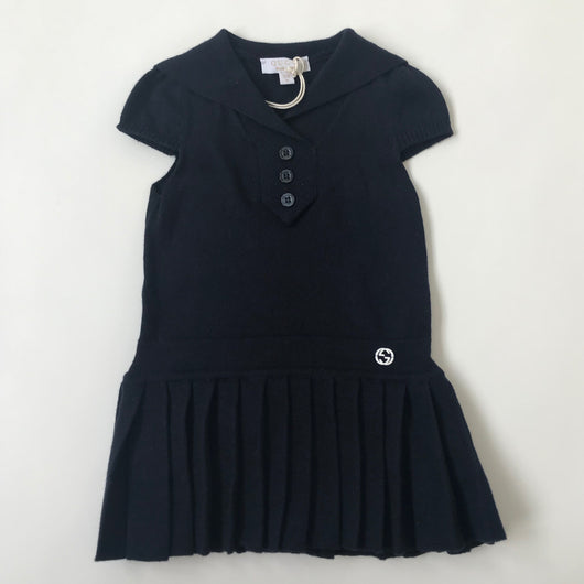 Gucci Navy Sailor Style Cotton/ Cashmere Dress