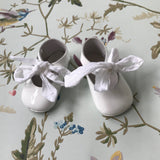 Baby Dior White Patent Baby Ballet Pumps With Ribbon Tie