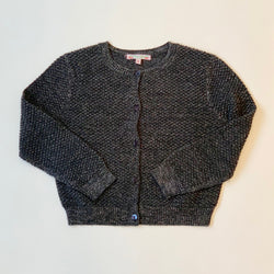 Bonpoint Grey And Silver Wool Mix Cardigan: 8 Years