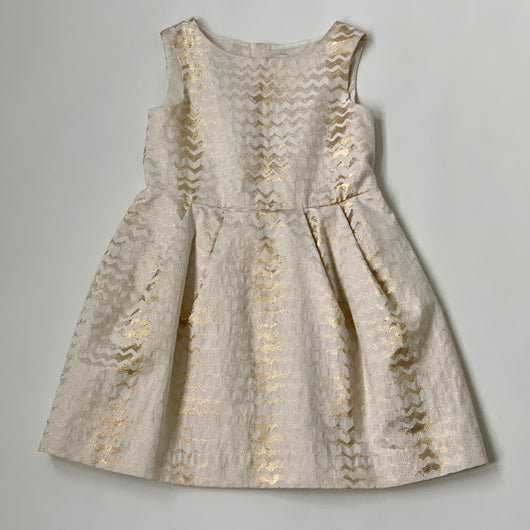 Bonpoint Cream And Gold Dress: 8 & 12 Years