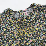 Bonpoint Liberty Print Short Sleeve Blouse With Peter Pan Collar: 12 Months