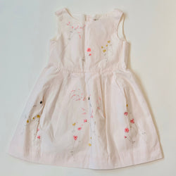 Bonpoint Pale Pink Dress With Floral Embroidery: 4, 6 & 8 Years