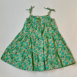 Poppy Rose Green Liberty Print Sundress: 6 Years